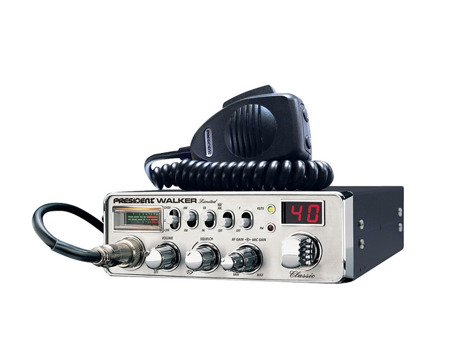 CB radio President Walker ASC Chrome